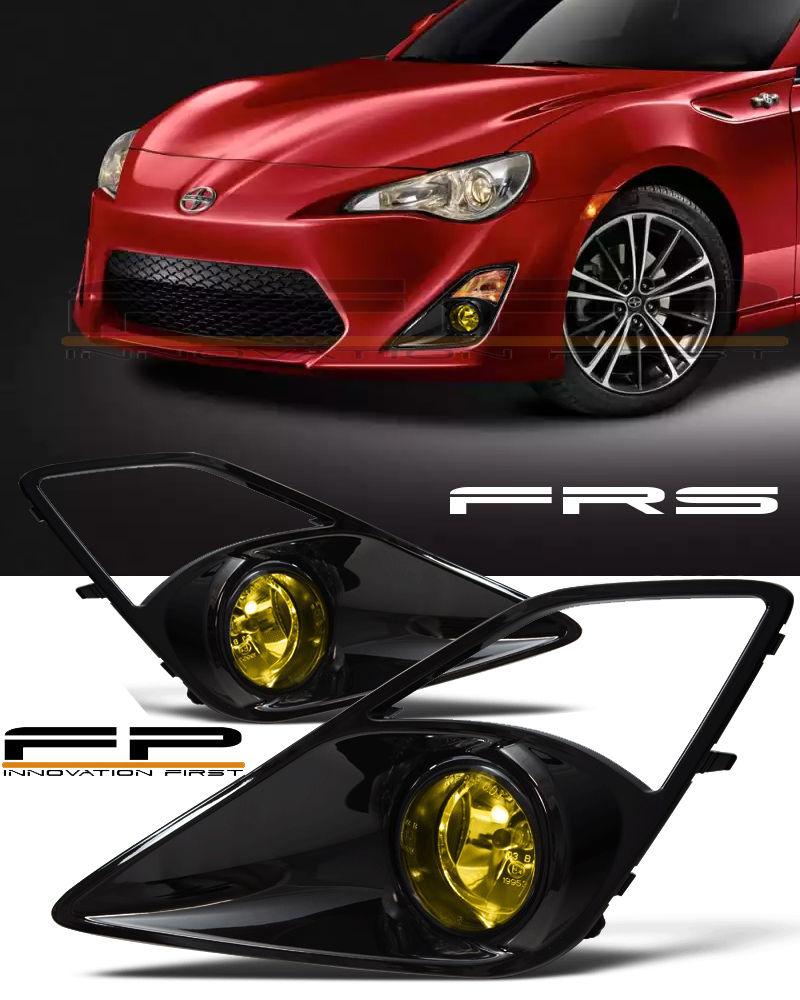 フォグライト 2012-2016 Scion FRS Fog Lights JDM Yellow Gloss Black Bezel Full Complete Kit Scion FRSフォグライトJDMイエローグロスブラックベゼルフルコンプリートキット