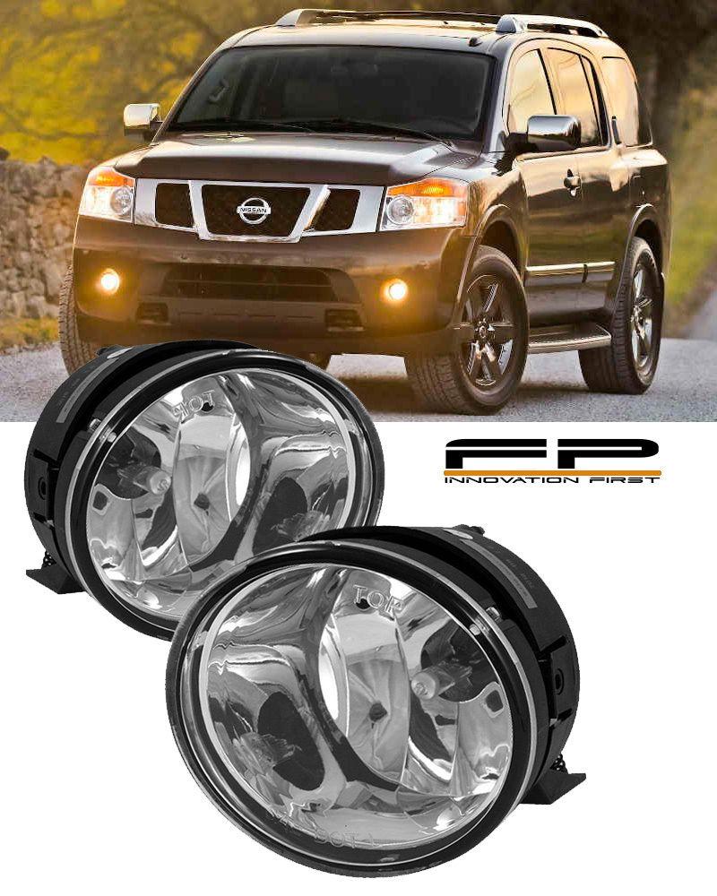 フォグライト For 2005-2007 Nissan Armada Clear Replacement Fog Light Housing Assembly Pair 2005-2007日産アルマダクリア交換用フォグライトハウジングアセンブリペア