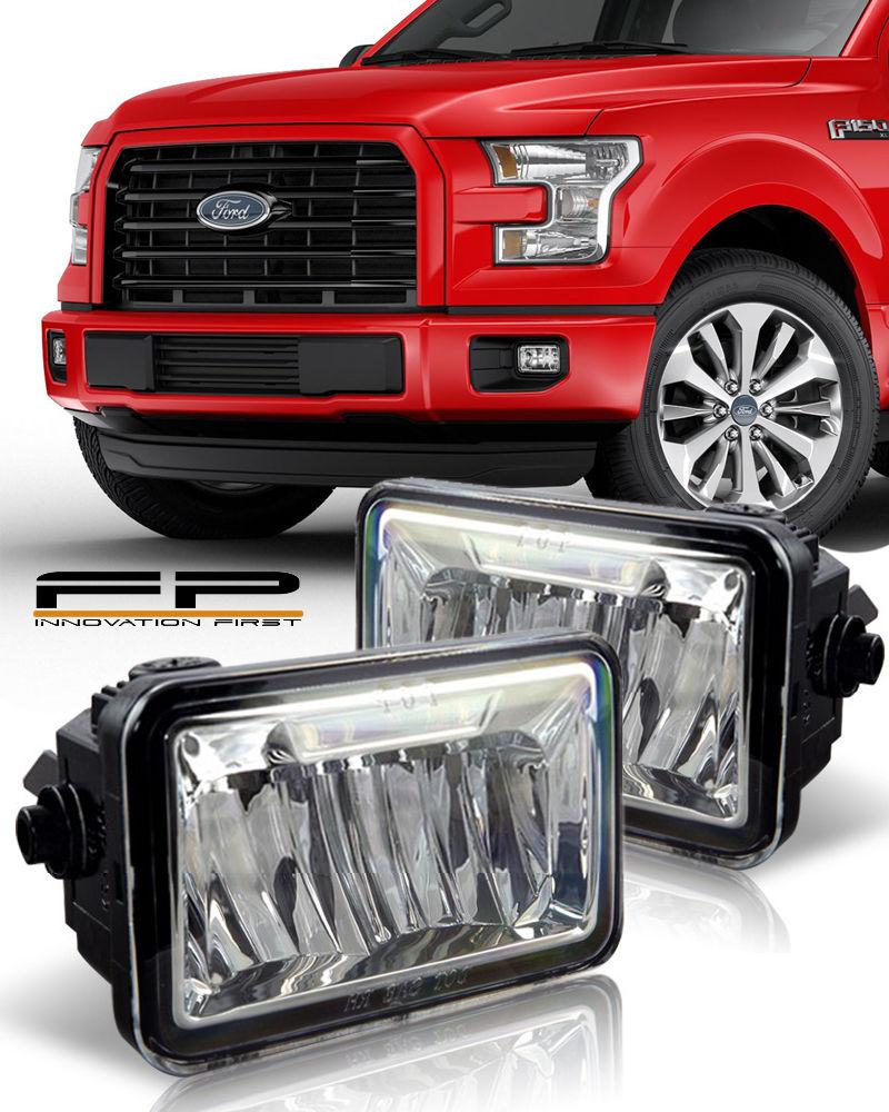 フォグライト 2015 2016 2017 Ford F150 LED Bumper Replacement Fog Light Housing Assembly Pair 2015 2016 2017 Ford F150 LEDバンパー交換フォグライトハウジングアセンブリペア