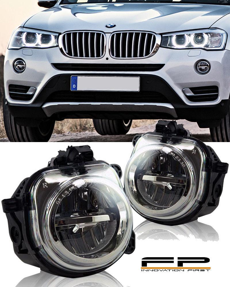 フォグライト FOR 2015-2016 BMW X3 F25 LED REPLACEMENT FOG LAMP LIGHT HOUSING ASSEMBLY PAIR 2015-2016 BMW X3 F25 LED交換用FOGランプライトハウジングアッセンブリ