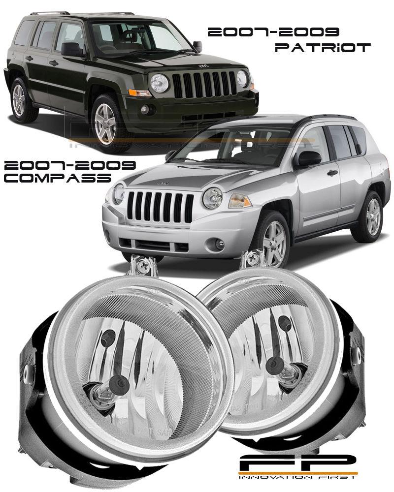 フォグライト 2007-2009 Jeep Compass / Patriot Clear Lens Replacement Fog Lights Housing Pair 2007-2009ジープコンパス/パトリオットクリアレンズ交換用フォグライトハウジングペア