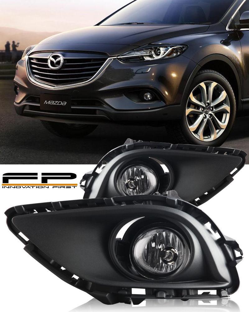 USフォグライト 2013 2014 2015 Mazda CX-9 Clear Bumper Fog Light Lamp Kit Include Wiring Harness 2013 2014 2015マツダCX-9クリアバンパーフォグライトランプキット、ハーネスの配線