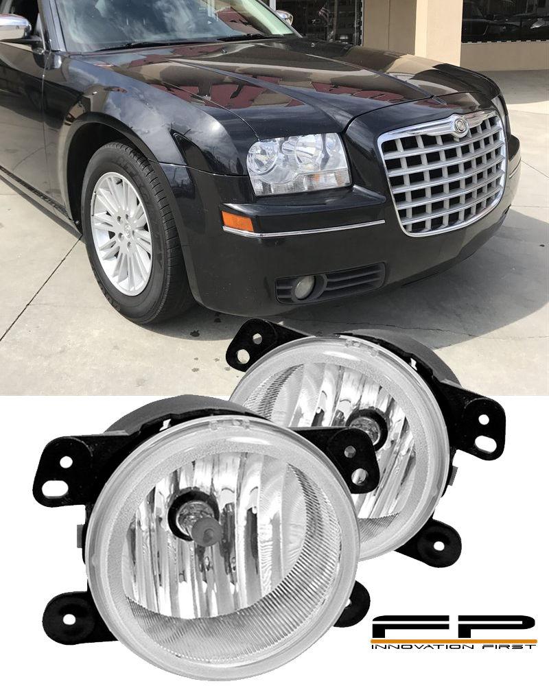 フォグライト 2005-2010 Chrysler 300 Touring Fog Lights Clear Lens 3.5L Front Bumper Lamp PAIR 2005-2010クライスラー300ツーリングフォグライトクリアレンズ3.5Lフロントバンパーランプペア