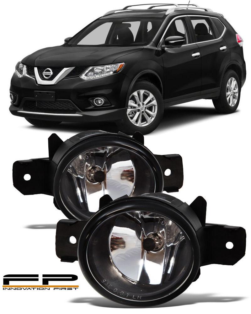 フォグライト For 2014-2016 Nissan Rogue Front Replacement Fog Lights Housing Clear Lens Pair 2014-2016 Nissan Rogueフロント交換フォグライトハウジングクリアレンズペア