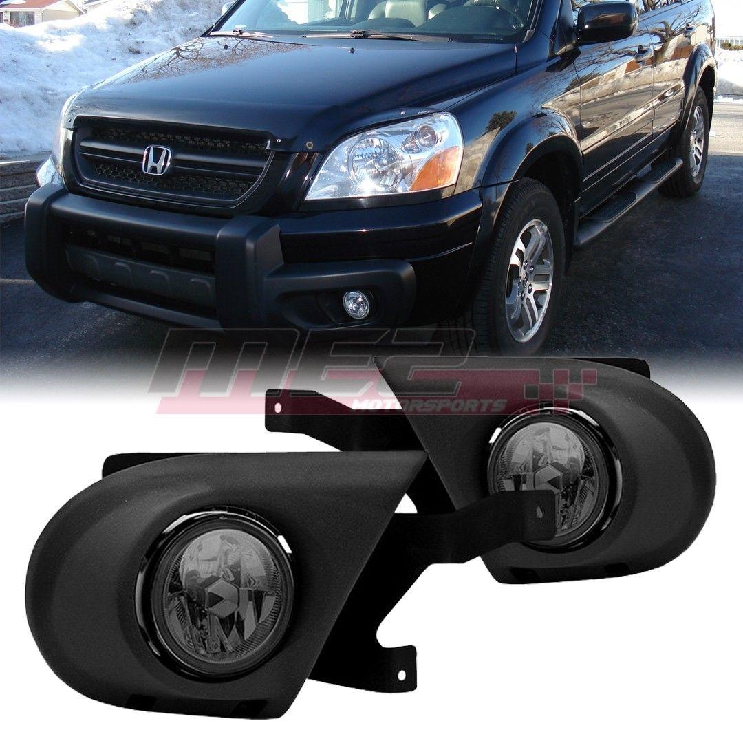 フォグライト Fog Light Replacements w/ Bulbs for 03 04 05 Honda Pilot Smoke Lens OE Style Fit 03 04 05ホンダパイロットスモークレンズOEスタイルフィット