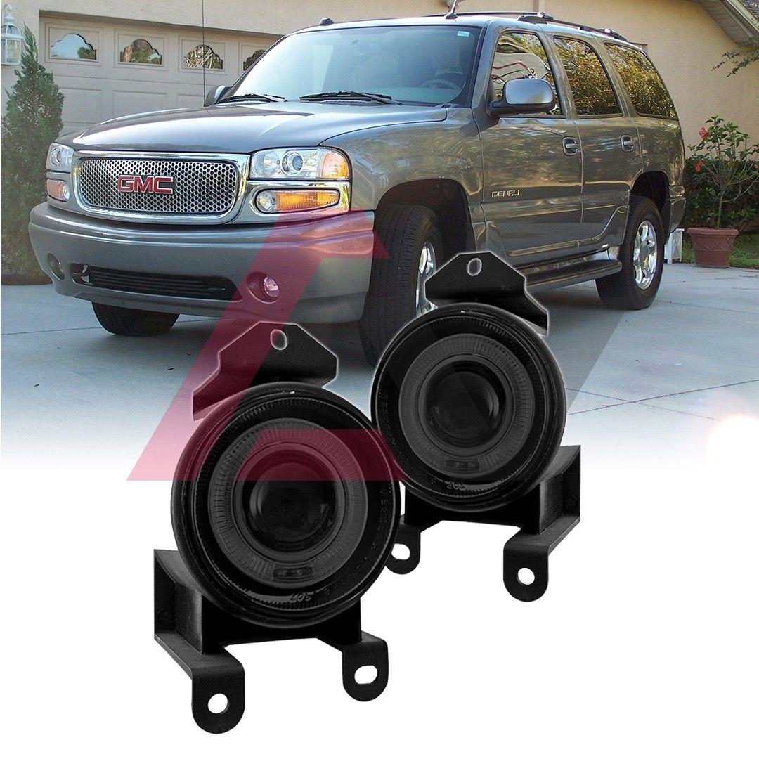 フォグライト For 2000-2006 GMC Yukon Denali Fog Lights Halo Ring Projector SAE DOT Smoke Lens 2000?2006年GMCユーコンデナリフォグライティングハローリングプロジェクターSAE DOTスモークレンズ