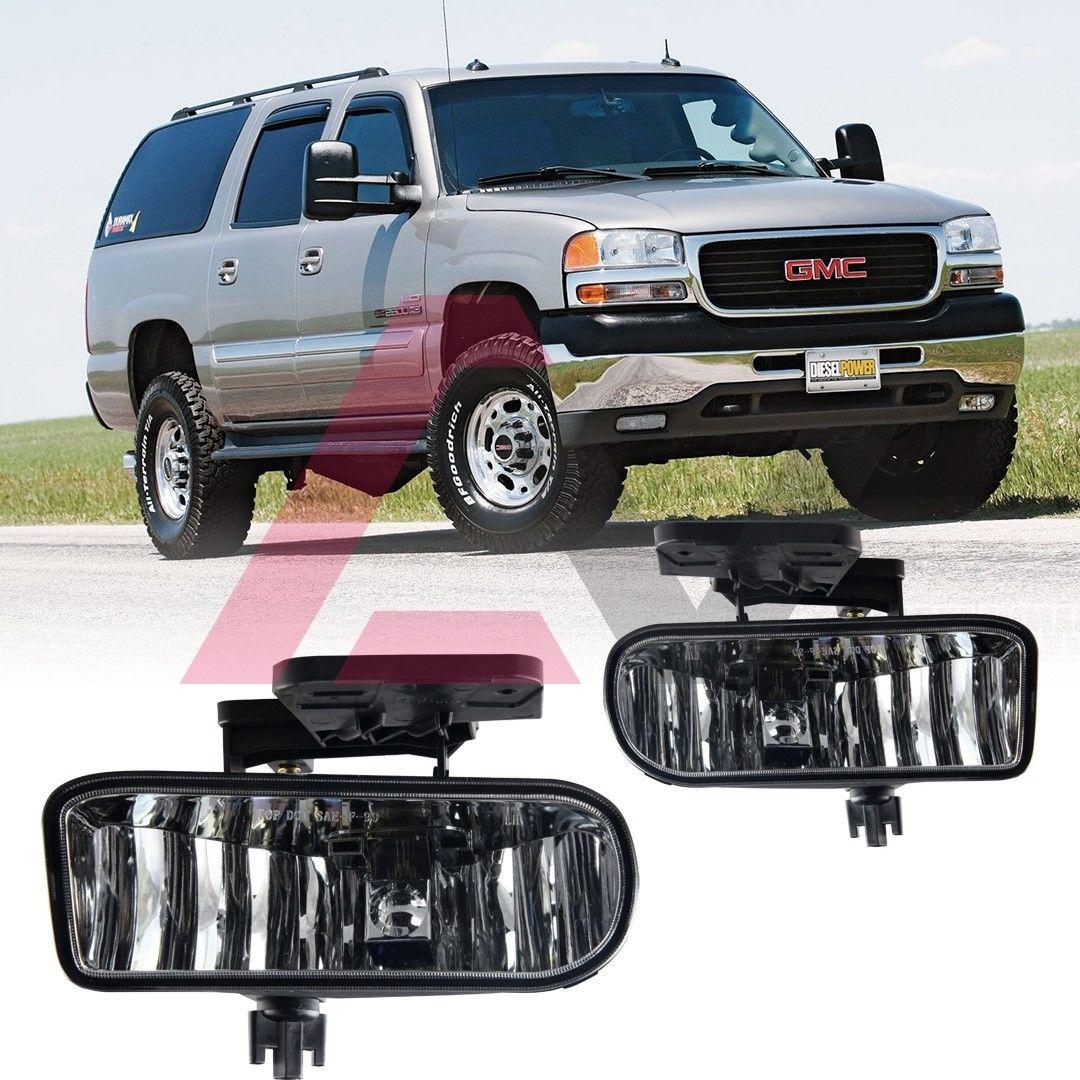フォグライト For 1999-2002 GMC Sierra Fog Lights Driving Lamps Replacement SAE DOT Clear Lens 1999-2002 GMC Sierra Fog照明用ランプの交換用SAE DOTクリアレンズ