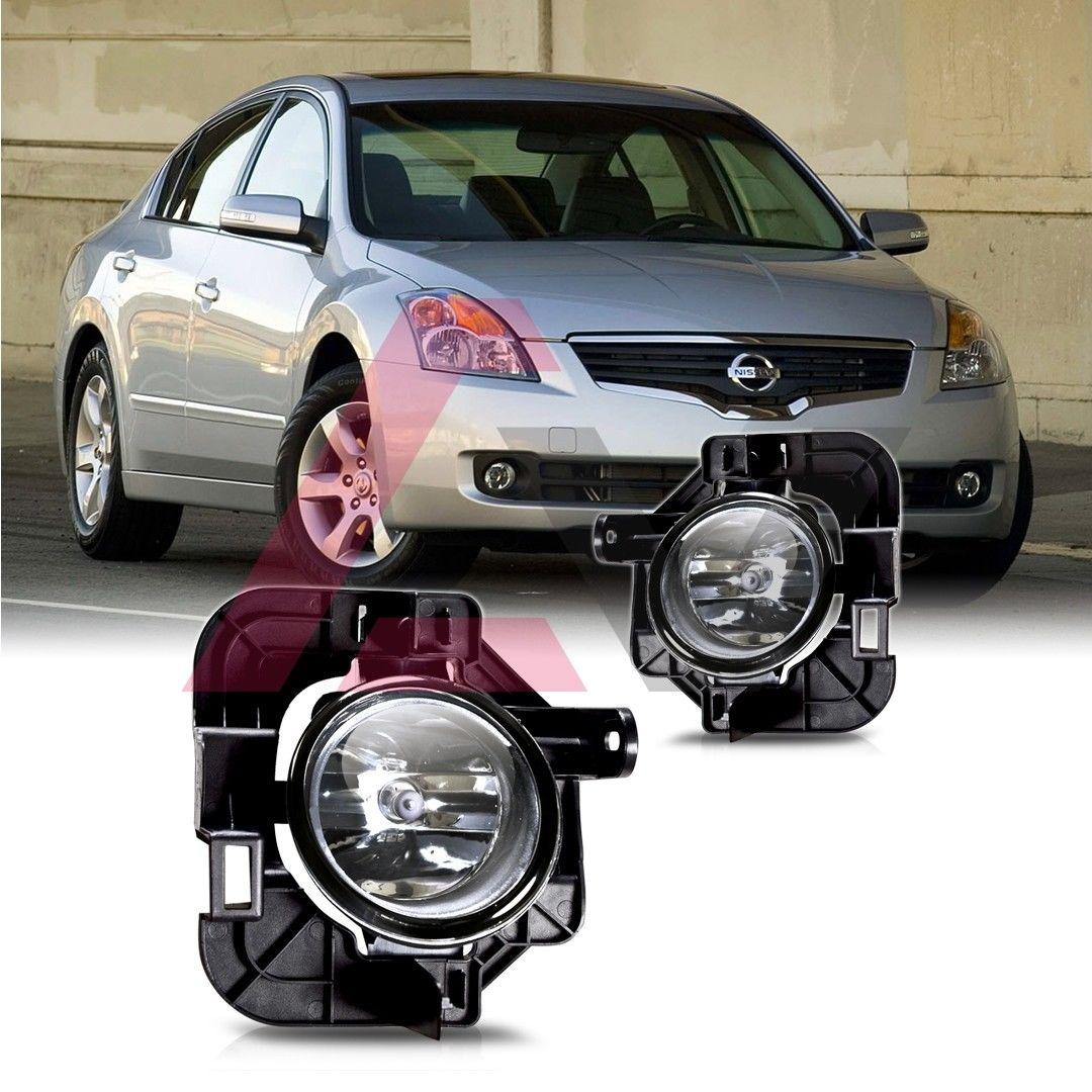 フォグライト For 2007-2012 Nissan Altima Fog Lights (Wiring, Switch, and Bezels) Clear Lens 日産アルティマフォグライト(配線、スイッチ、ベゼル)クリアレンズ
