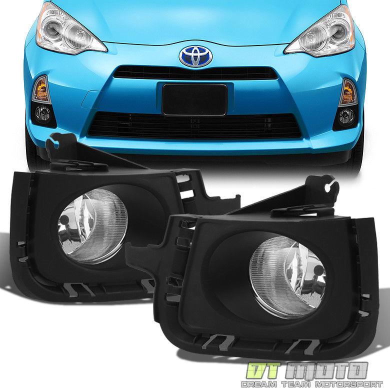 フォグライト For 2012-2014 Toyota Prius Fog Lights Bumper Lamps w/Switch Left+Right 12 13 14 2012-2014トヨタプリウスフォグライト用バンパーランプ左/右スイッチ12 13 14