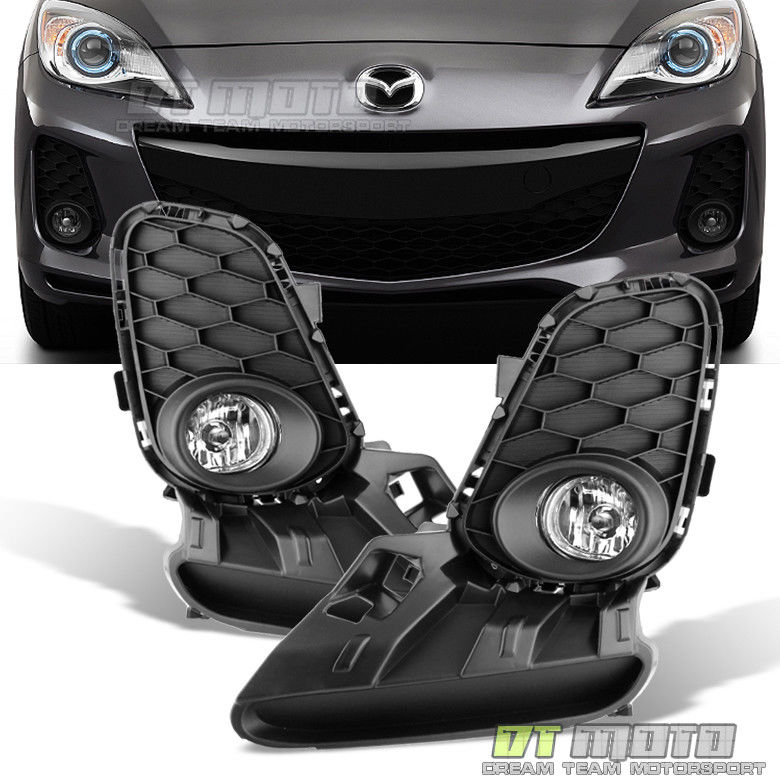 フォグライト 2012-2013 Mazda 3 Mazda3 4/5Dr Bumper Fog Lights+Switch Replacement Left+right 2012-2013 Mazda 3 Mazda3 4 / 5Drバンパーフォグライト+スイッチ交換左+右