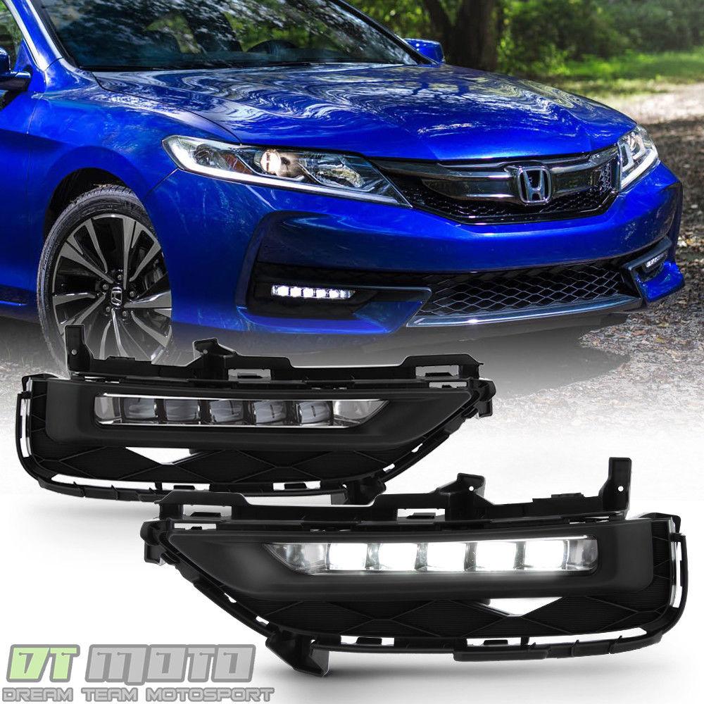 フォグライト For 2016-2017 Honda Accord 9.5 Gen 2dr Coupe 0E Style LED Bumper Fog Lights Lamp 2016-2017 Honda Accord 9.5 Gen 2dr Coupe 0EスタイルLEDバンパーフォグライトランプ