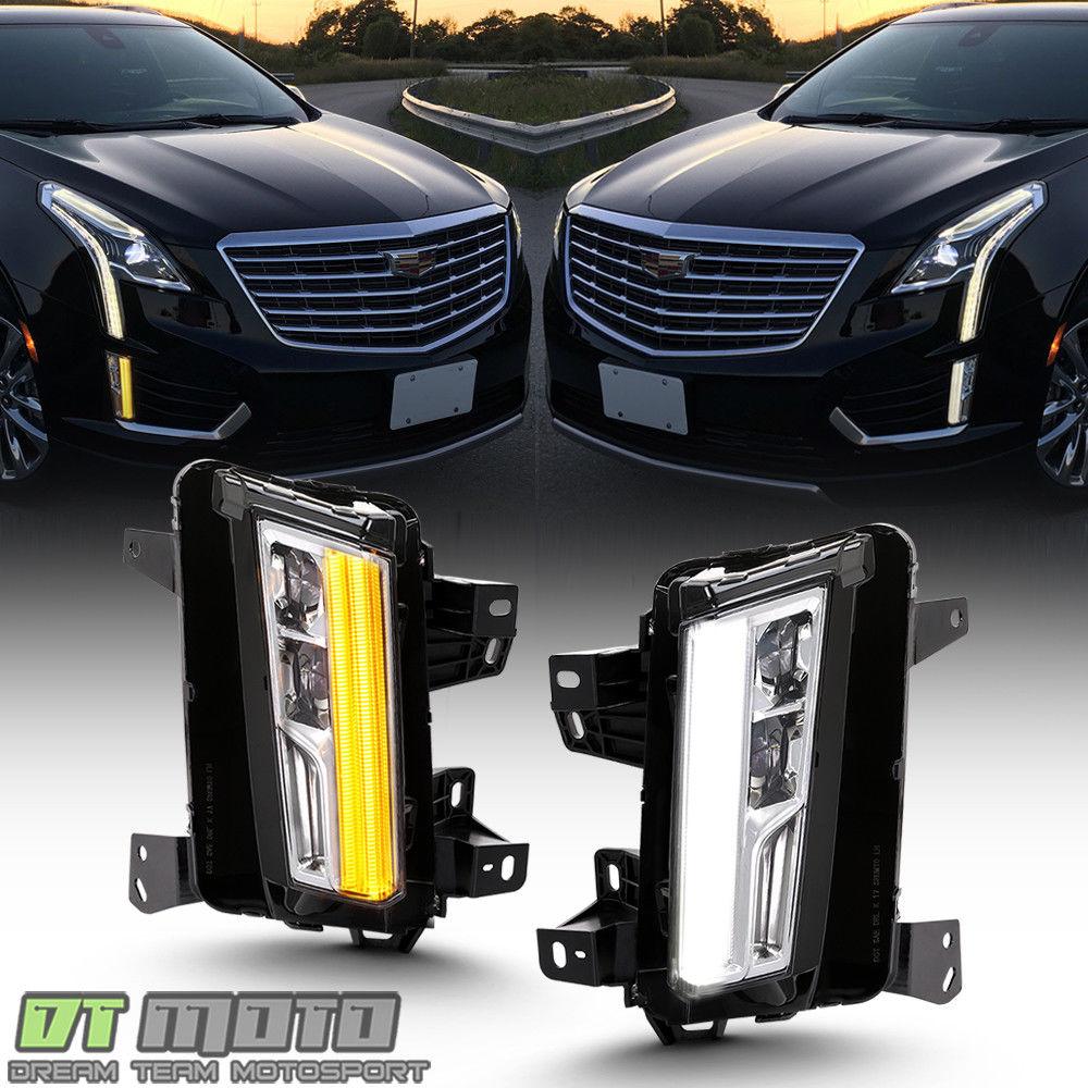 フォグライト [SwitchBack] 2017-2018 Cadillac XT5 LED DRL w/Turn Signal Fog Lights Lamps [スイッチバック] 2017-2018 Cadillac XT5 LED DRLターンシグナルフォグライトランプ
