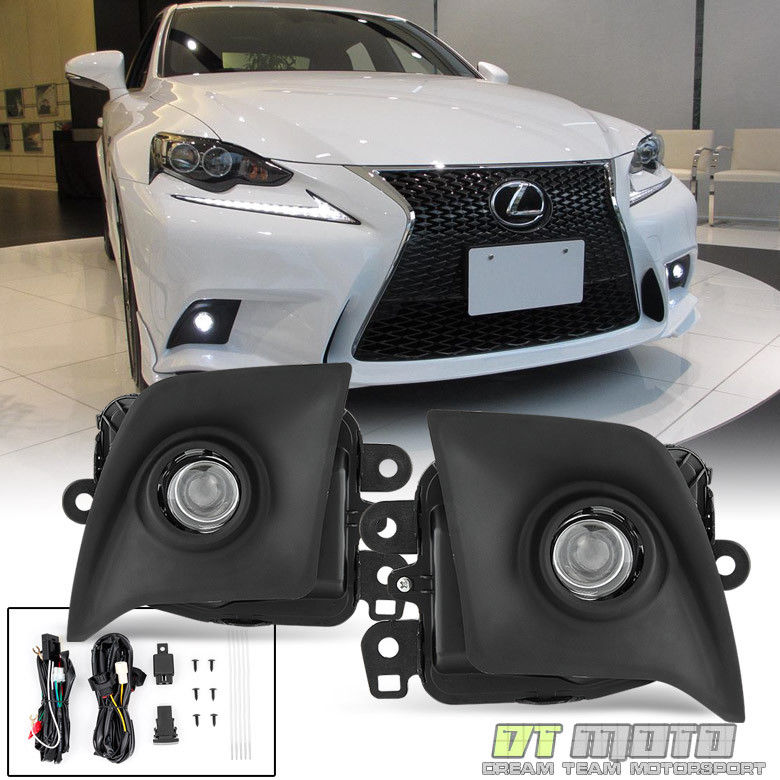 フォグライト For 2014 2015 2016 Lexus IS F-Sport LED Fog Lights Lamps w/Switch (No Bulbs) 2014年2015年2016年Lexus IS F-Sport LEDフォグライティングランプ(スイッチなし)