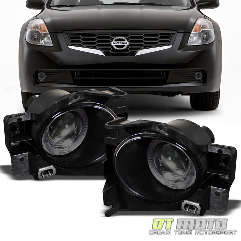 USフォグライト Smoked For 2008-2012 Altima 2Dr Coupe LED Halo Projector Fog Lights Lamps+Switch Altima 2DrクーペLEDハロープロジェクターフォグライトランプ+スイッチ