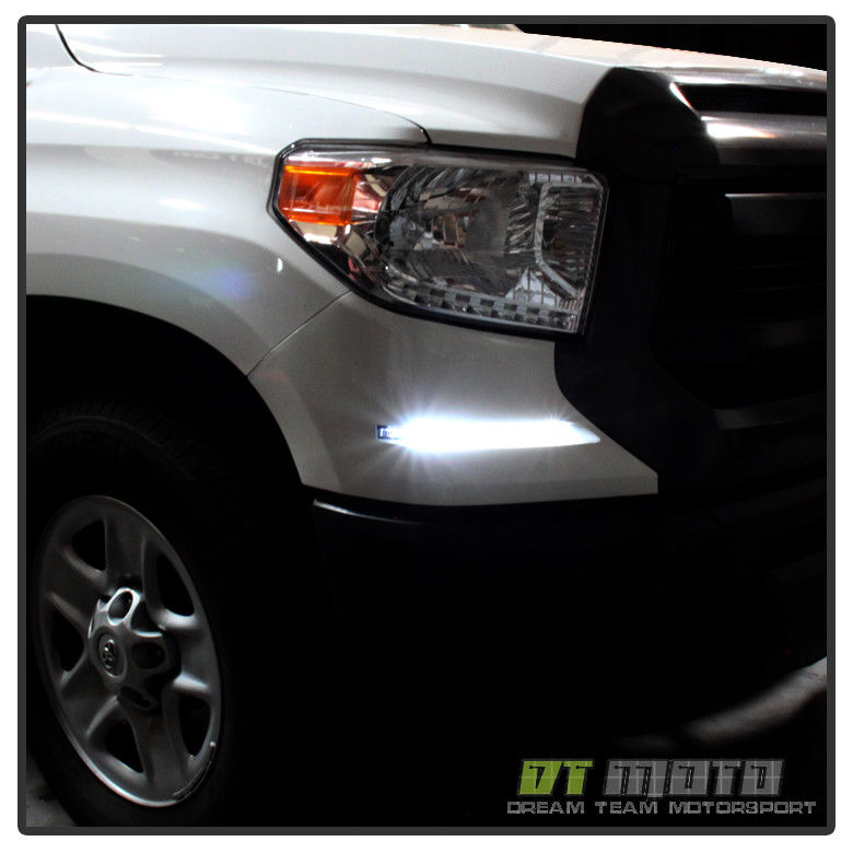 フォグライト For 2014-2017 Toyota Tundra SMD LED DRL System Daytime Running Fog Lights 14-17 2014-2017 Toyota Tundra SMD LED DRLシステム日中走行フォグライト14-17