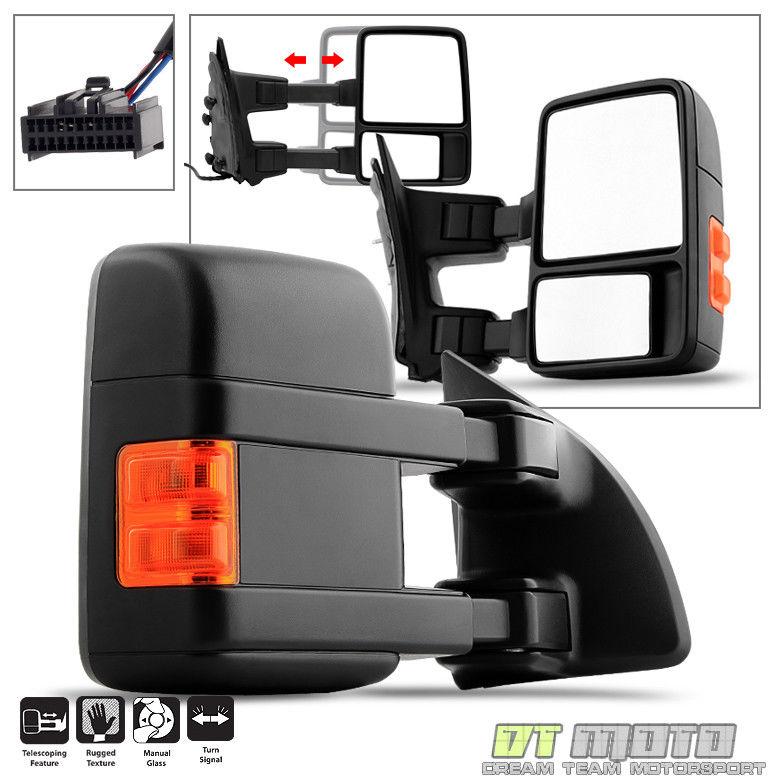 ミラー 2008-2016 Ford F250-F550 Super Duty Manual LED Signal Towing Mirror Passenger RH 2008-2016 Ford F250-F550スーパーデューティマニュアルLED信号牽引ミラー乗員RH