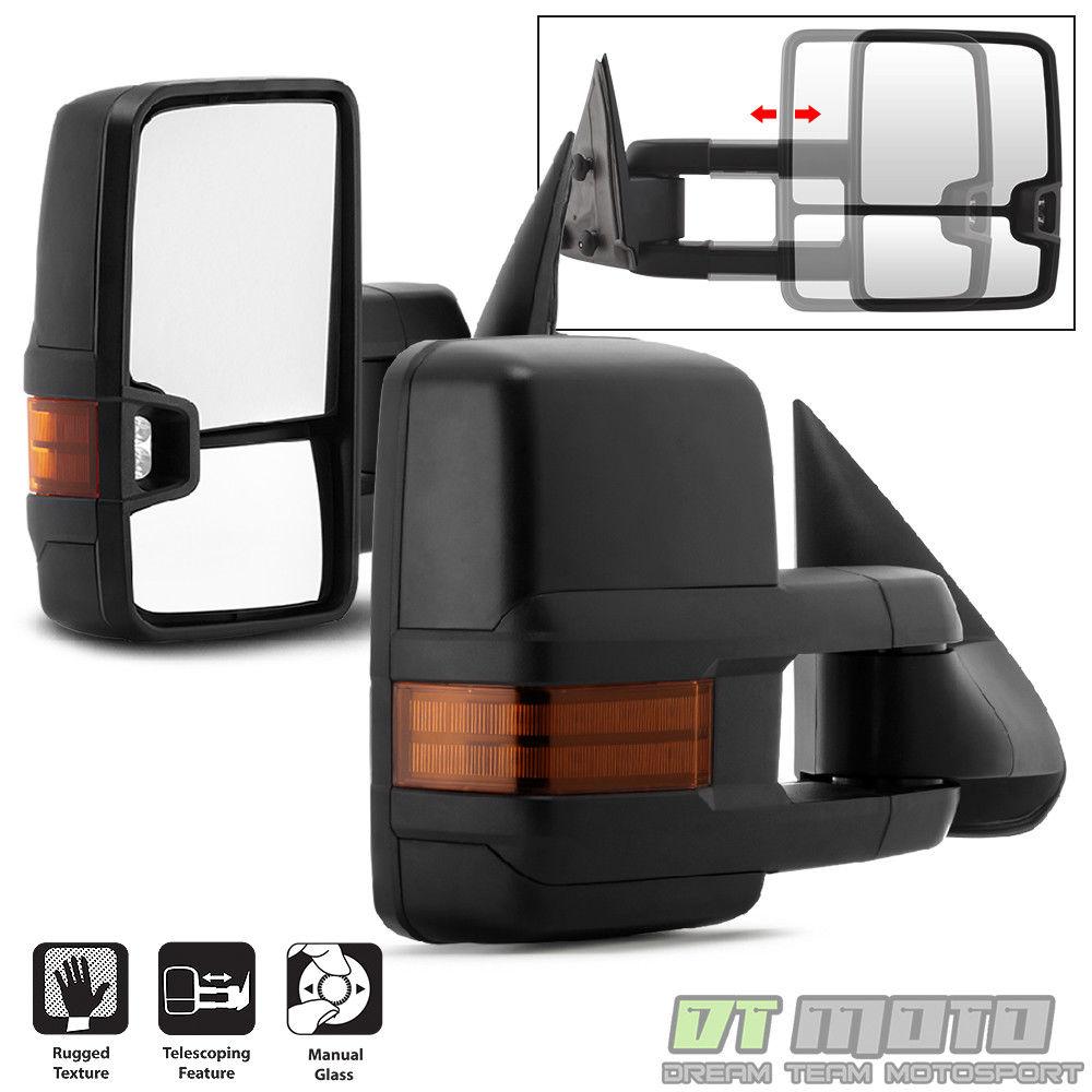 ミラー G2 Left+Right 99-06 Chevy Silverado Sierra Telescoping Manual Tow Side Mirrors G2左+右99-06シボレーシルバラードシエラテレスコープマニュアルトウ側ミラー