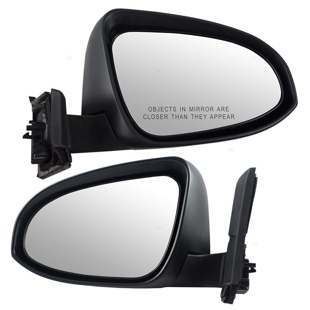 ミラー Fits Toyota Yaris Hatchback 15-17 Set of Side Manual Mirrors Glass w/ Housing Toyota Yaris Hatchback 15-17サイドミラーのセットに適合ガラス付きガラス