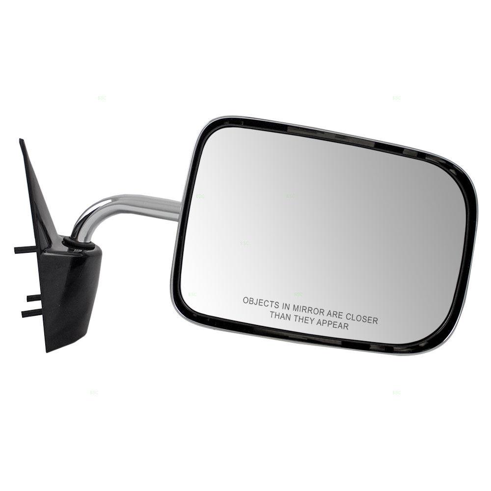87-96 Dodge Dakota Driver Side Mirror Replacement Chrome