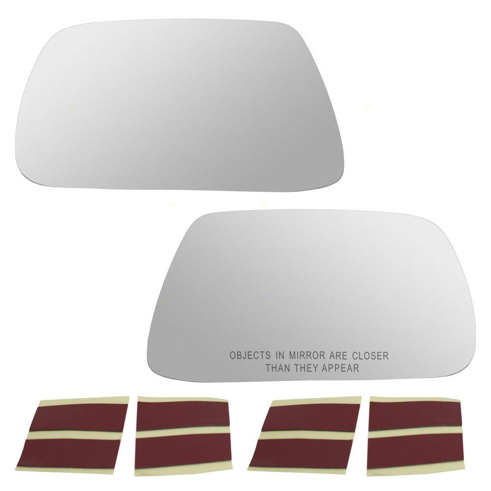 ミラー 05-10 Jeep Grand Cherokee Set Side View Mirror Glass Heated w/ Adhesive Strips 05-10ジープグランドチェロキーセットサイドミラーミラーガラス付接着ストリップ