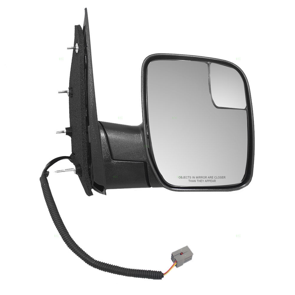 ミラー 09-14 Ford E-Series Van Passengers Side Power Sail Type Mirror w/ Spotter Glass 09-14 Ford E-Series Van Passengersサイドパワーセイルタイプミラー付/スポッタグラス