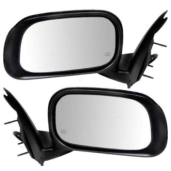 ミラー 07-09 Chrysler Aspen Set of Side View Power Mirrors Heated with Chrome Covers 07-09クライスラー・アスペン・サイドビューパワーミラー・クローム・ヒーティング
