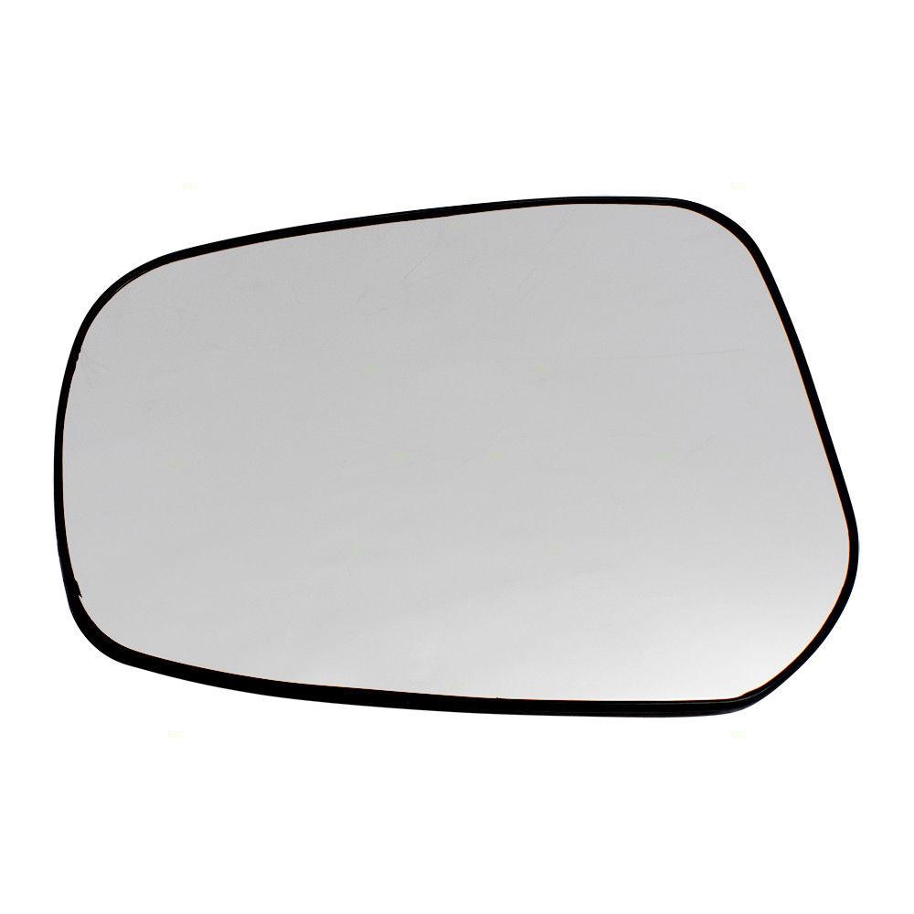 ミラー 15-17 Mitsubishi Lancer Sportback & Evolution Drivers Side Mirror Glass w/ Base 15-17三菱ランサースポーツバック& 進化型ドライバーサイドミラーガラスベース付