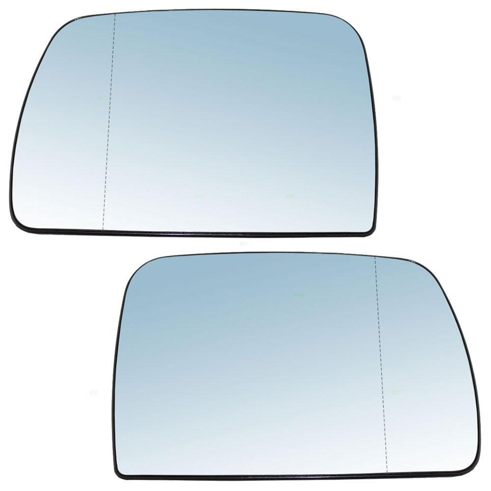 ミラー 00-06 BMW X5 Set of Side View Power Mirrors with Blue Tinted Glass 00-06 BMW X5サイドライトパワーミラーの青色ガラスのセット
