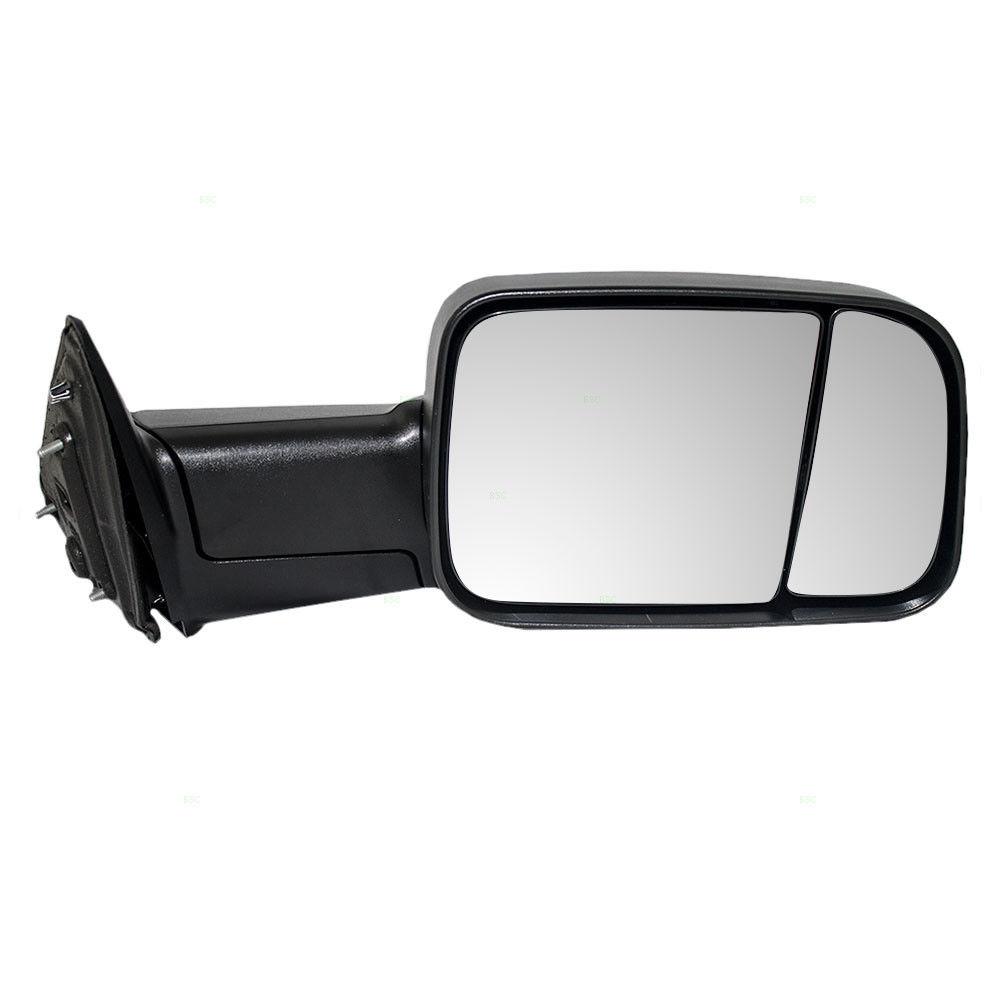 ミラー 09-12 Dodge Ram Pickup Truck Passengers Side Manual Tow Flip-Up Textured Mirror 09-12ダッジ・ラム・ピックアップトラック乗客側マニュアルトウ・フリップ・アップテクスチャ付きミラー