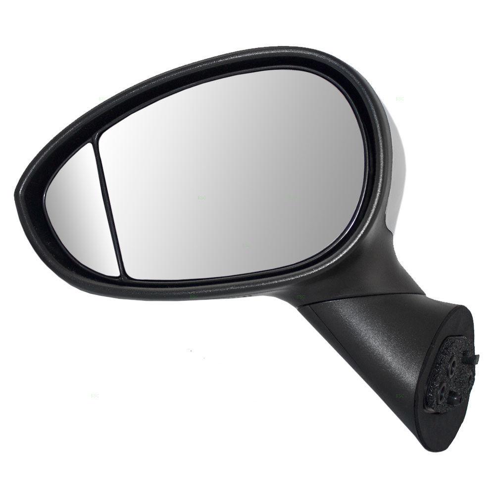 ミラー 12-14 Fiat 500 Type 1 Drivers Side Power Mirror Heated Chrome Blind Spot Glass 12-14フィアット500タイプ1ドライバサイドパワーミラーヒートクロムブラインドスポットガラス