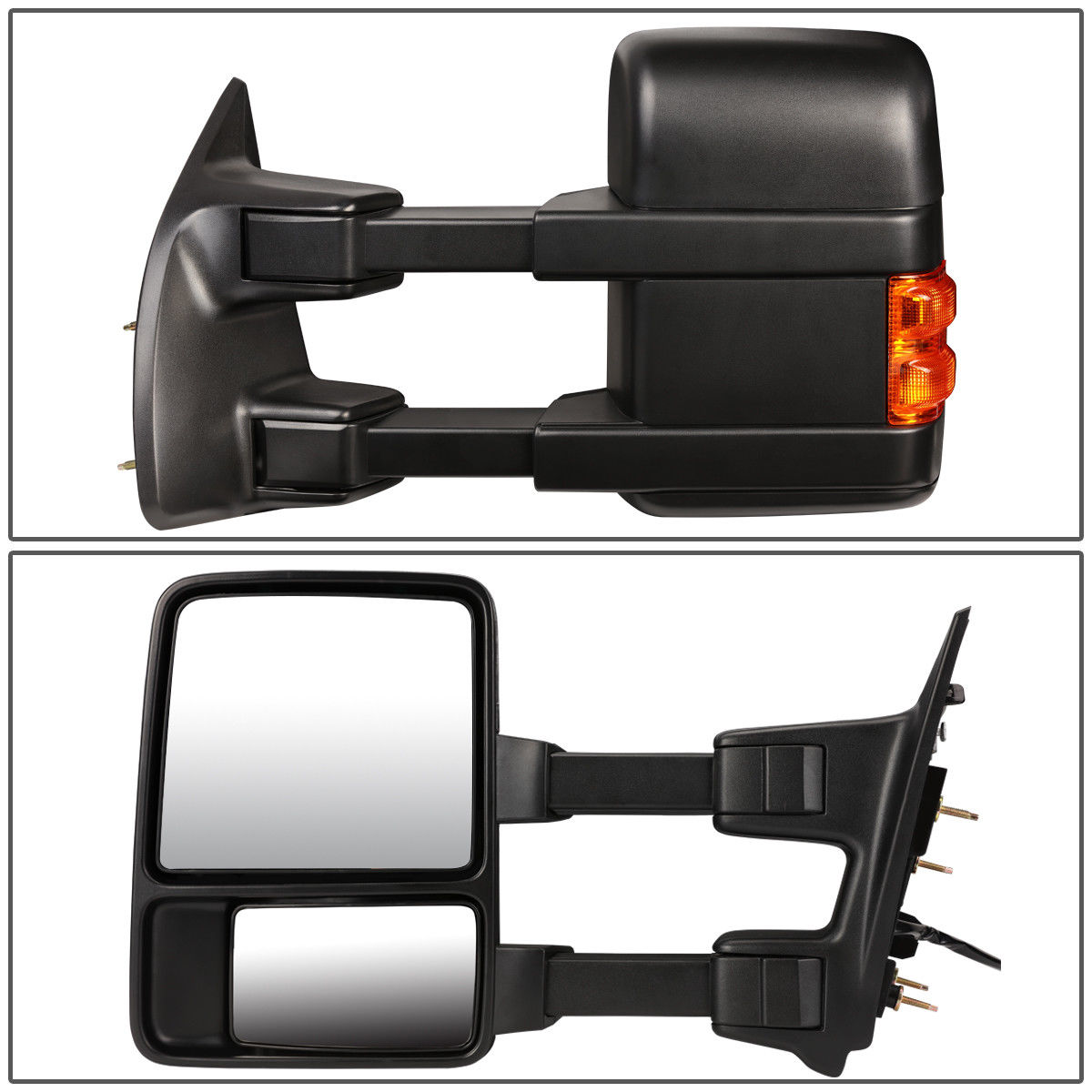 MANUAL+AMBER LED SIGNAL SIDE TOW TOWING MIRROR RIGHT FOR 08-16 FORD SUPER DUTY
