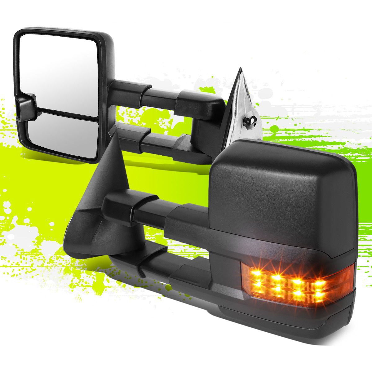 ミラー FOR 03-07 GM GMT800 ADJUSTABLE MANUAL EXTENDABLE+LED SIGNAL TOWING SIDE MIRROR FOR 03-07 GM GMT800アジャスタブルマニュアル延長+ LED信号灯サイドミラー