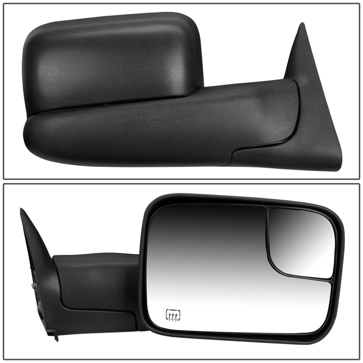 FOR 94-97 DODGE RAM LEFT SIDE POWERED ADJUSTMENT+HEATED+FLIP UP TOWING MIRROR