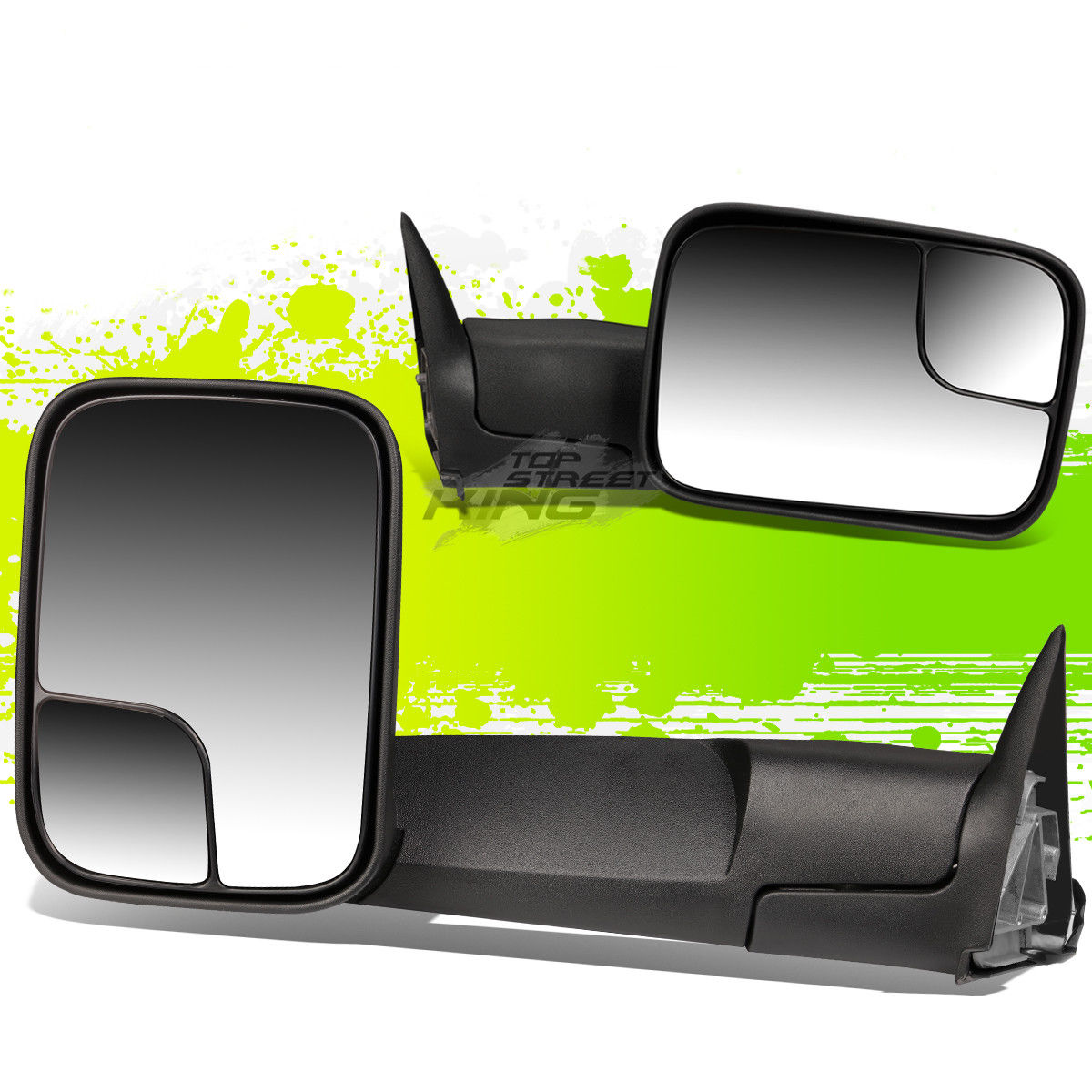 ミラー FOR 94-02 RAM PAIR LEFT&RIGHT 90 ADJUSTABLE MANUAL FOLDABLE TOWING SIDE MIRROR 94-02 RAM対左右90度調整可能な手動折り畳み式旋回両面鏡