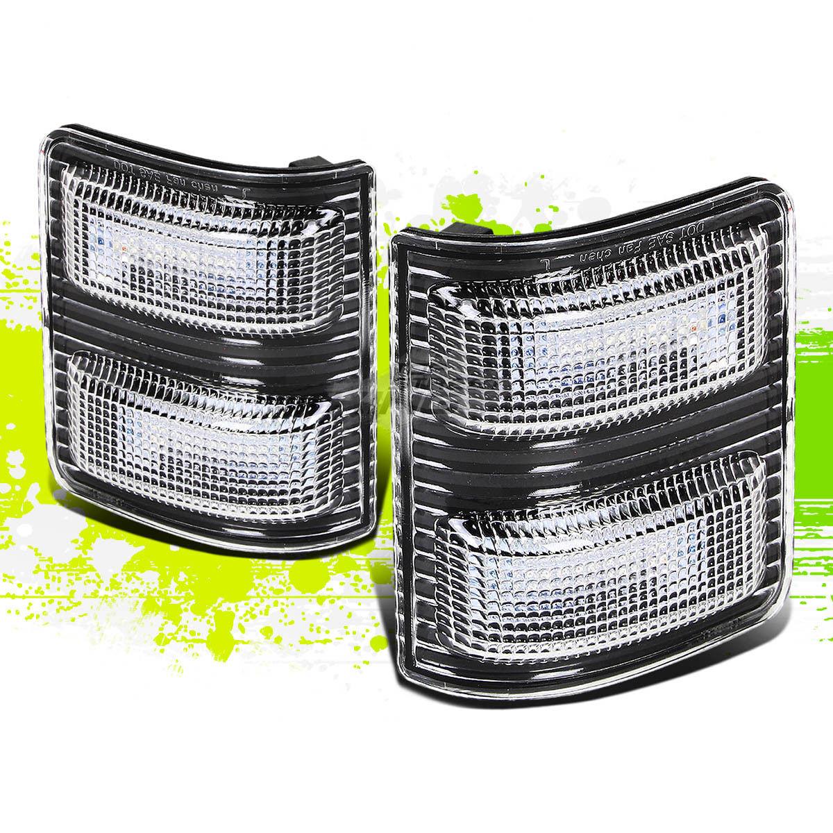 ミラー BLACK WHITE LED TOW/REAR VIEW MIRROR TURN SIGNAL LIGHT FOR 08-16 FORD SUPERDUTY ブラックホワイトLED TOW / REAR VIEW鏡面灯信号灯08-16フォードスーパーライト