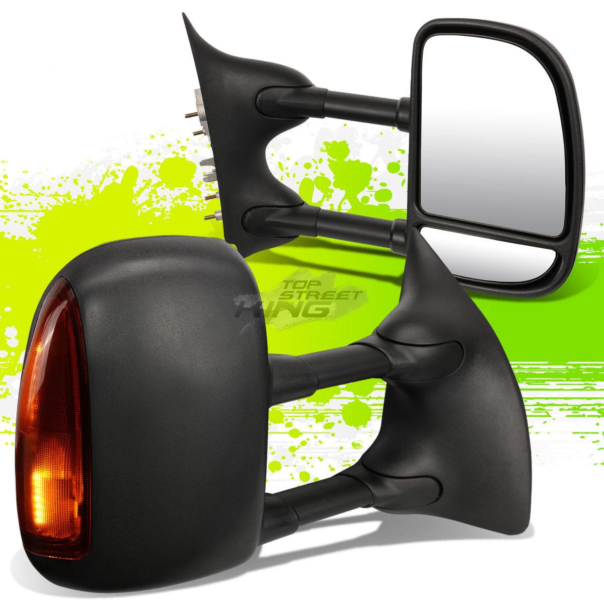 ミラー FOR 99-07 SUPERDUTY ADJUSTABLE MANUAL EXTENDABLE+LED SIGNAL TOWING SIDE MIRROR 99-07のための超高精度調整可能な拡張可能+ LED信号灯サイドミラー