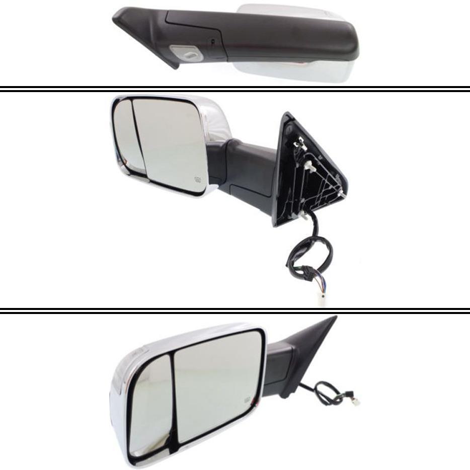 ミラー New CH1320351 Driver Side Mirror for Ram 1500 2013-2016 ラム1500 2013-2016用の新しいCH1320351ドライバサイドミラー