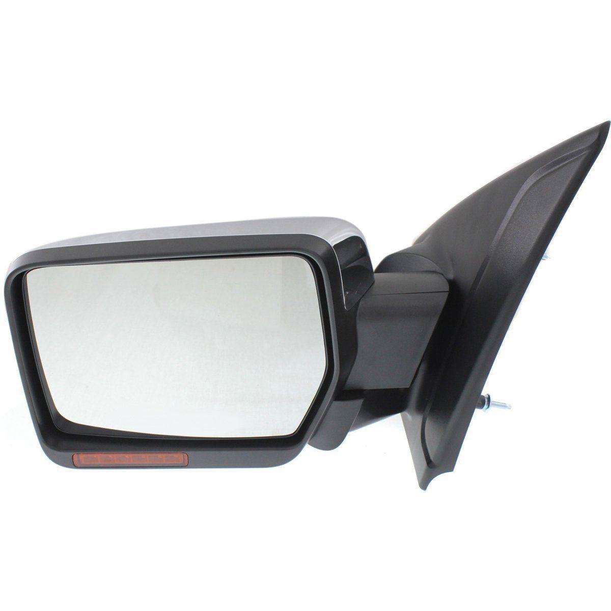 ミラー New Driver/Left Side Power Heated Puddle Light Chrome Door Mirror for Ford F-150 新しいドライバー/左サイドパワーは、フォードF - 150のための熱いパドルライトクロームドアミラー