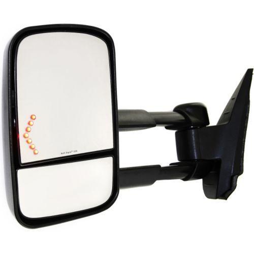 ミラー For Sierra 1500 07-13 Driver Side Towing Mirror Power Heated w/ In-Glass Signal Sierra 1500用07-13ドライバーサイドトーイングミラーパワーヒートイン/グラスシグナル