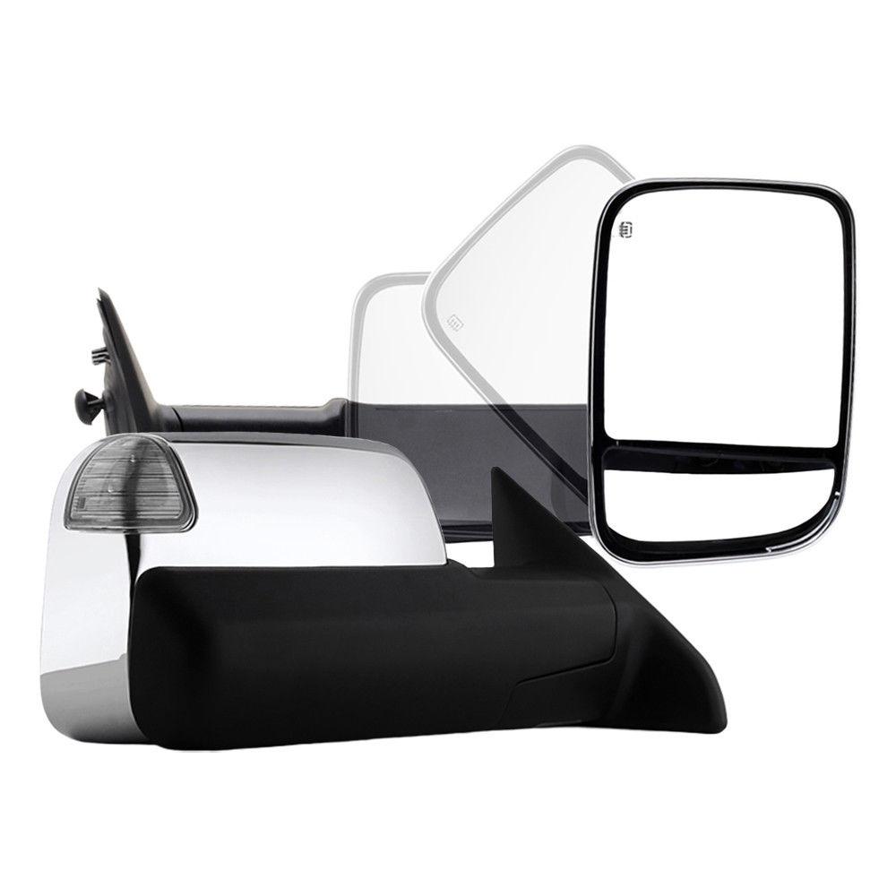 ミラー New Right Power Heated LED Puddle/Signal Flip Up Tow Mirror Chrome for Ram 09-12 新しい右パワーヒートLEDパドル/シグナルフリップアップトウミラークリームラム09-12