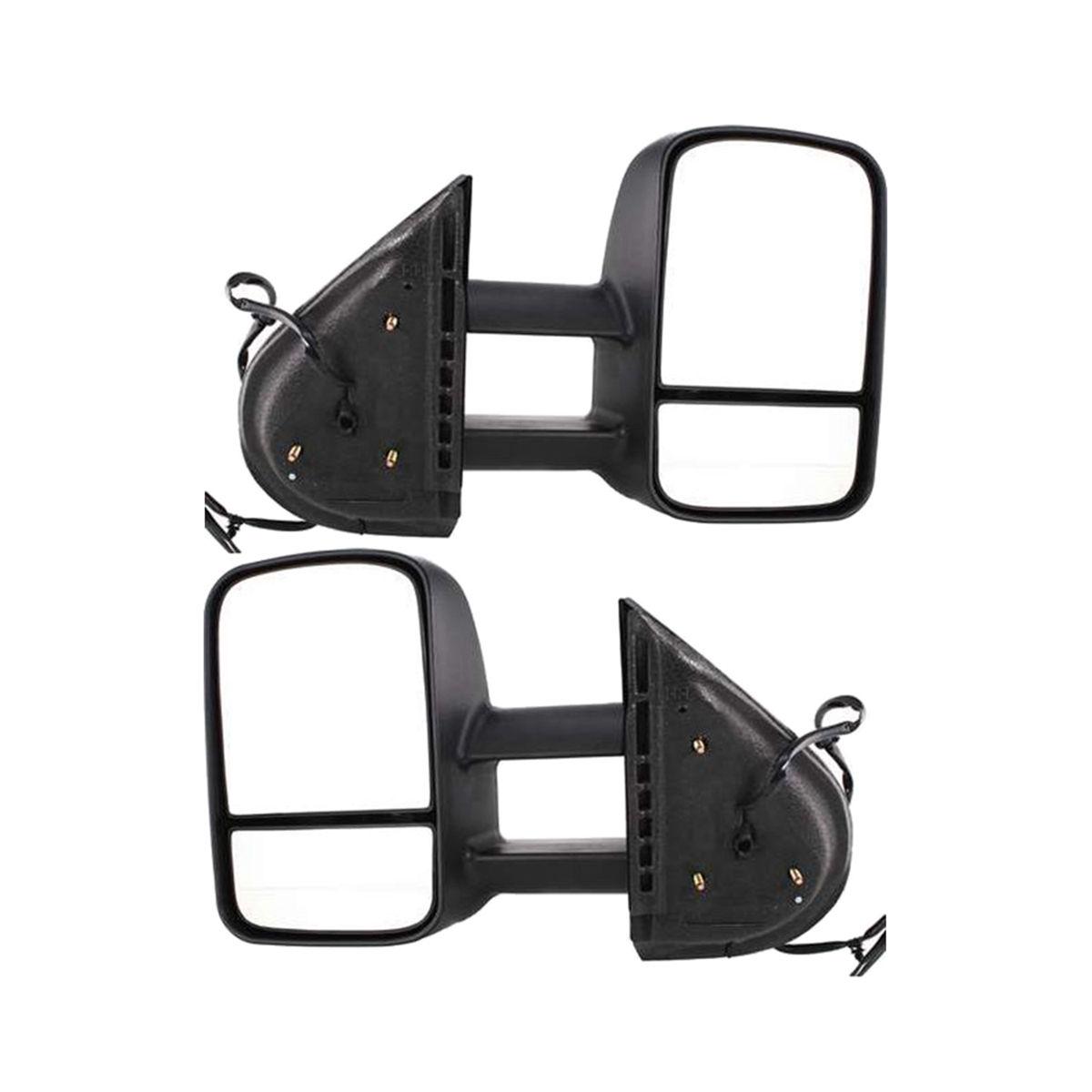 ミラー New Set of 2 Power Heated Towing Mirrors for Chevy Silverado 1500 2007-2014 Pair Chevy Silverado 1500 2007-2014ペアの2つのパワーヒートトーイングミラーの新しいセット