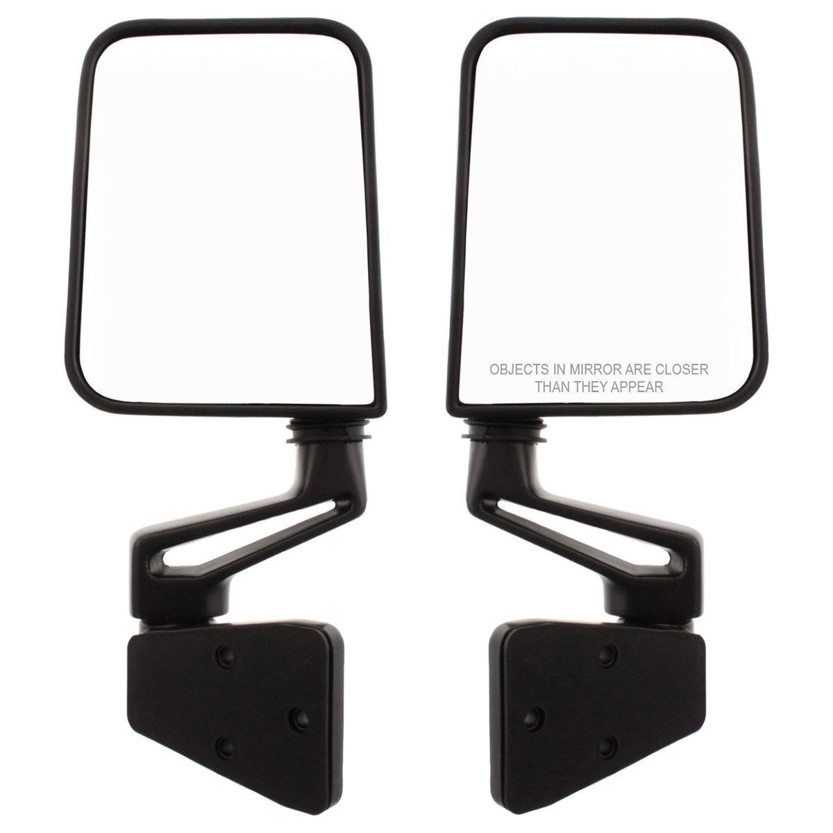 ミラー New Set of 2 Manual Door Mirrors LH & RH Side for Jeep Wrangler 1994-2002 Pair 新しい2つの手動ドアミラーセットLH& ジープ・ラングラーのRH側1994-2002ペア