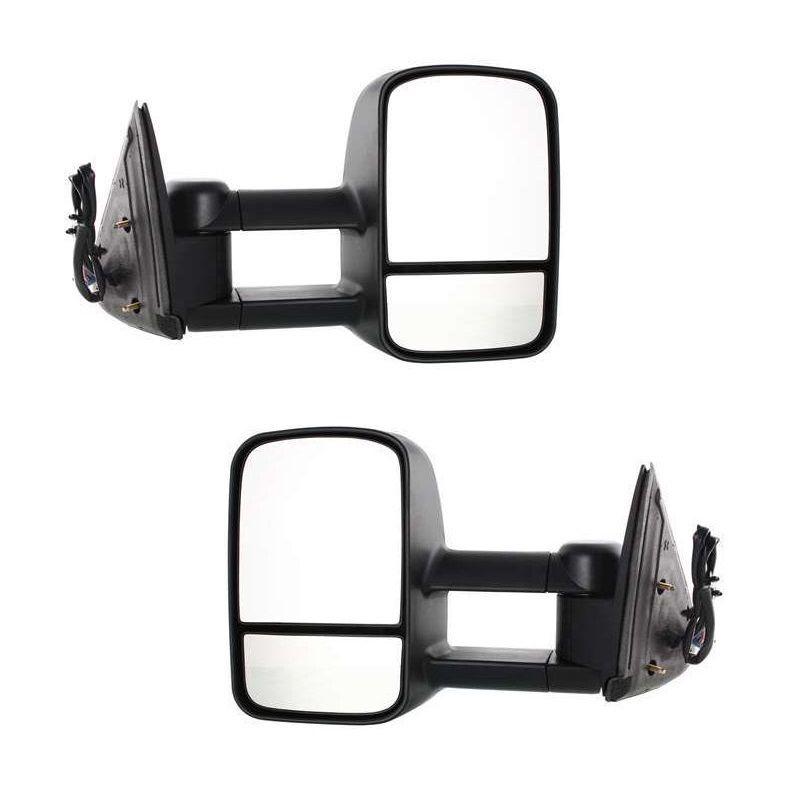 ミラー New Set of 2 Power Heated Towing Mirror Set For Chevrolet / GMC 2003-2007 Pair Chevrolet / GMC 2003-2007ペアの2つのパワーヒートトーイングミラーセットの新しいセット