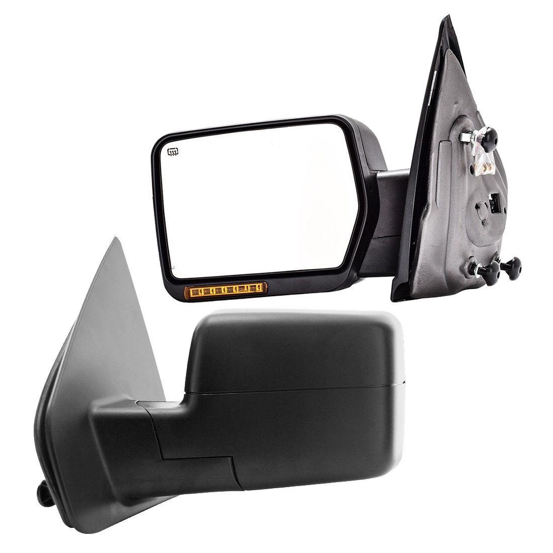 ミラー New Driver/Left Power Heated Amber LED Turn Signal Mirror for Ford F-150 2004-06 新しいドライバー/左パワー加熱琥珀LEDターンシグナルミラーフォードF-150 2004-06