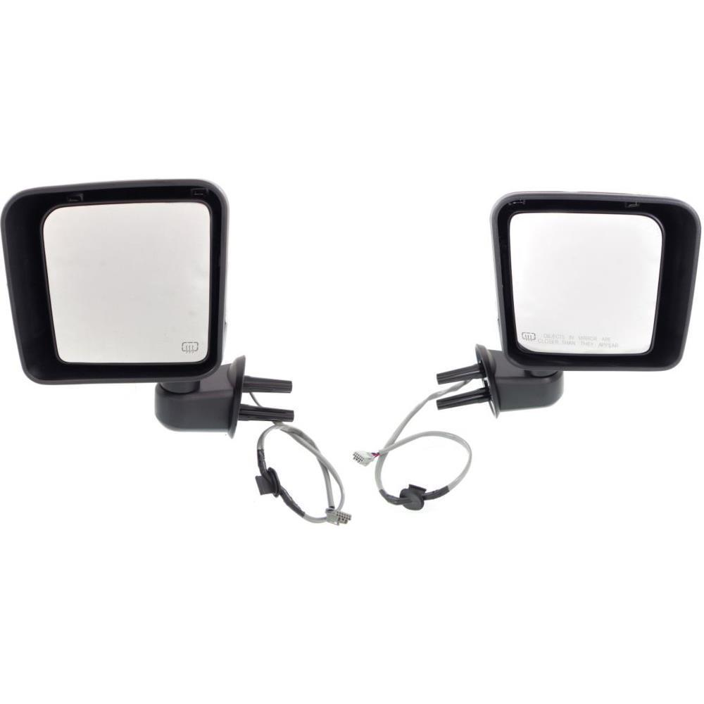 ミラー New CH1320389, CH1321389 Door Mirror Set for Jeep Wrangler 2014-2014 新しいCH1320389、CH1321389ジープラングラー2014-2014用のドアミラーセット