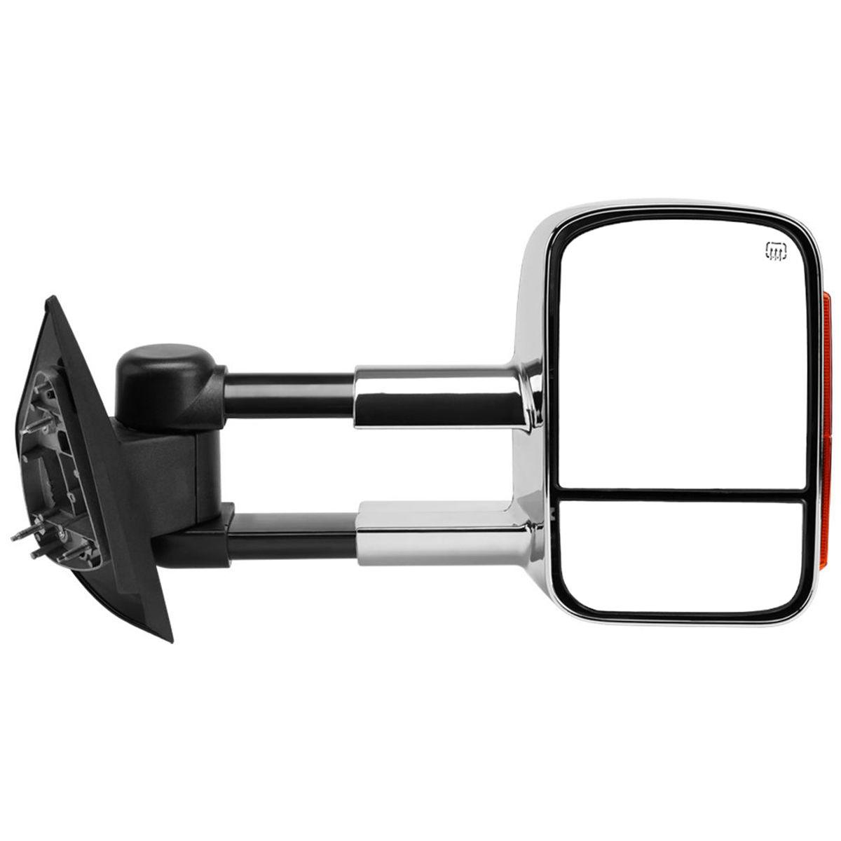 ミラー New Right Side Power Heated Turn Signal Towing Mirror Chrome for Silverado 07-12 新しい右サイドパワー加熱ターンシグナルトーイングミラーシルバーアドの07-12