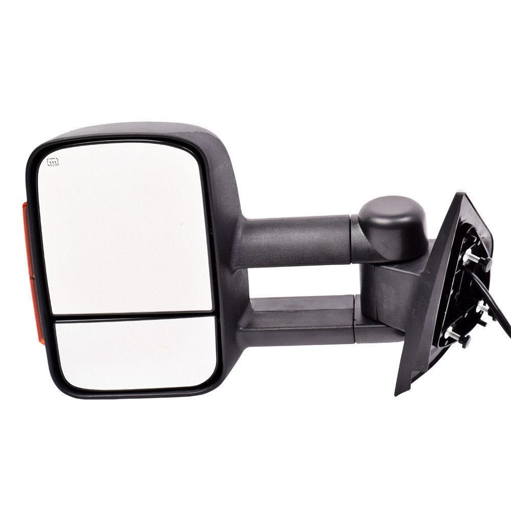 ミラー New Left Side Power Heated Turn Signal Towing Mirror Black for Silverado 07-13 新しい左サイドパワーヒーティングシグナルトーイングミラーブラックシルバラード07-13