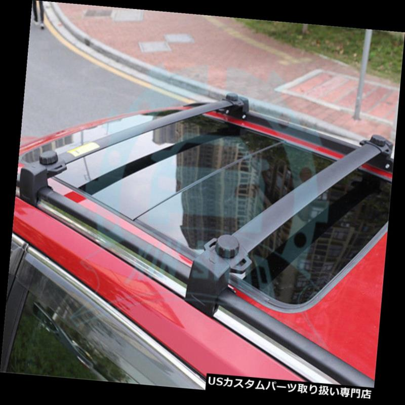 キャリア ジープコンパス2017 2018ルーフレールラッククロスバークロスバーブラックB用2個 2Pcs for Jeep Compass 2017 2018 Roof Rail Racks Cross Bars Crossbars Black B