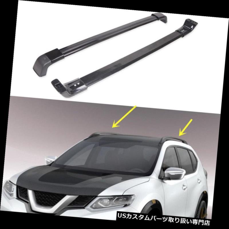 キャリア 日産エクストレイル2008-2016年のための2 *アルミニウム黒い十字バーの屋根の貨物荷物の棚 2*Aluminum Black Cross Bar Roof Cargo Luggage Rack For Nissan X-TRAIL 2008-2016