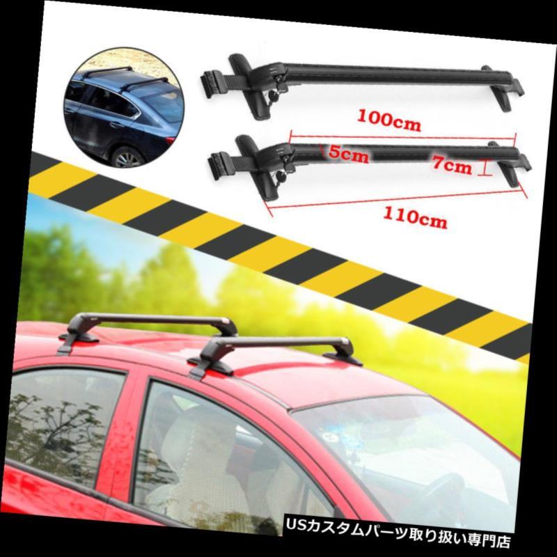 キャリア 2本アルミ車のトップルーフクロスバー荷物貨物キャリアラック調整可能なフレーム 2pcs Aluminum Car Top Roof Cross Bar Luggage Cargo Carrier Rack Adjustable Frame